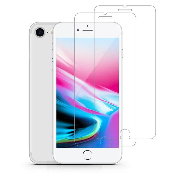 2-Pack härdat glas för iPhone 7 Plus / iPhone 8 Plus