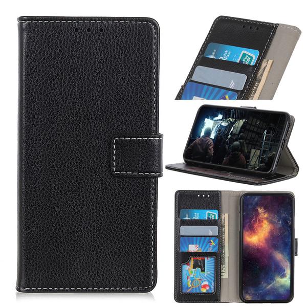 Xiaomi Mi Note 10 Lite - Litchi Plånboksfodral - Svart