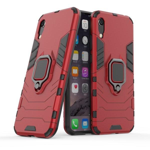 Huawei Y6 (2019) - Ring Skal  Funkar med magnethållare - Röd