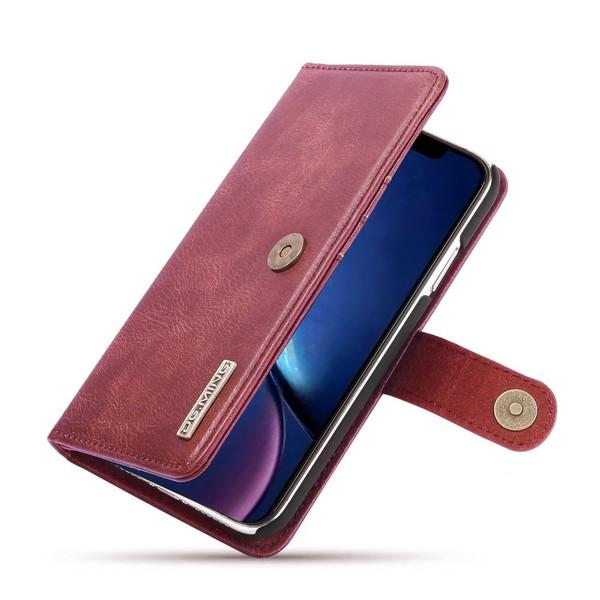 iPhone 11 - DG.MING Plånboksfodral/Magnet Skal - Vinröd
