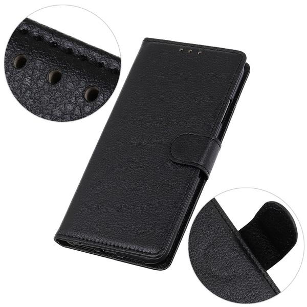 Samsung Galaxy S10 Lite - Litchi Plånboksfodral - Svart