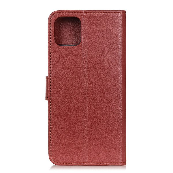iPhone 11 Pro - Plånboksfodral Litchi - Brun