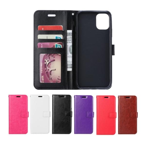 iPhone 12 / 12 Pro - Plånboksfodral - Välj Färg! Vit