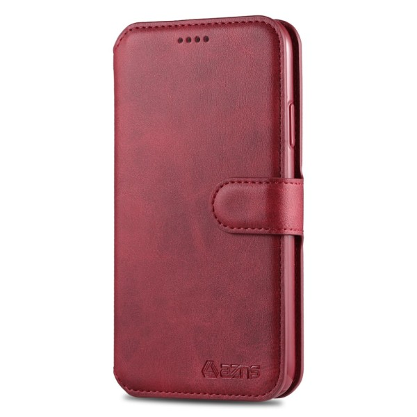 iPhone 12 / 12 Pro - AZNS Plånboksfodral - Röd