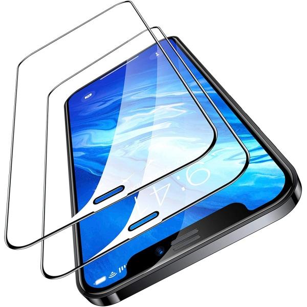 iPhone 12 Pro Max - 2-Pack Heltäckande Skydd Härdat Glas