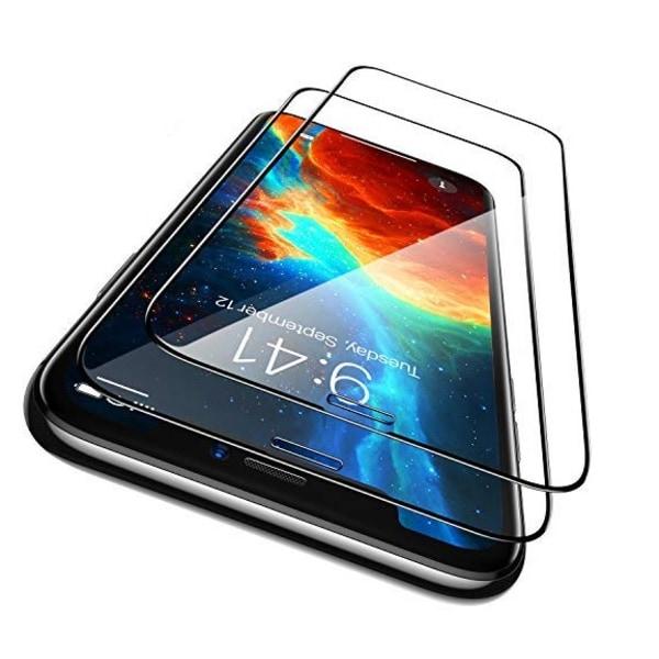 iPhone 12 - 2-Pack Heltäckande Skärmskydd i Härdat Glas