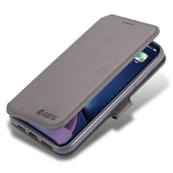 iPhone 12 Pro Max - AZNS Läder Fodral - Grå