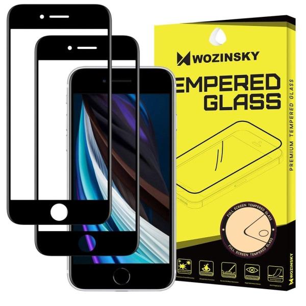 iPhone 6/6S/7/8/SE (2020) - 2-pack Wozinsky Heltäckande Skärmsky Black Svart