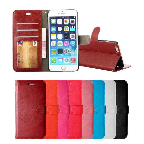 iPhone 7/8/SE (2020) - Plånboksfodral - Välj Färg! Brun