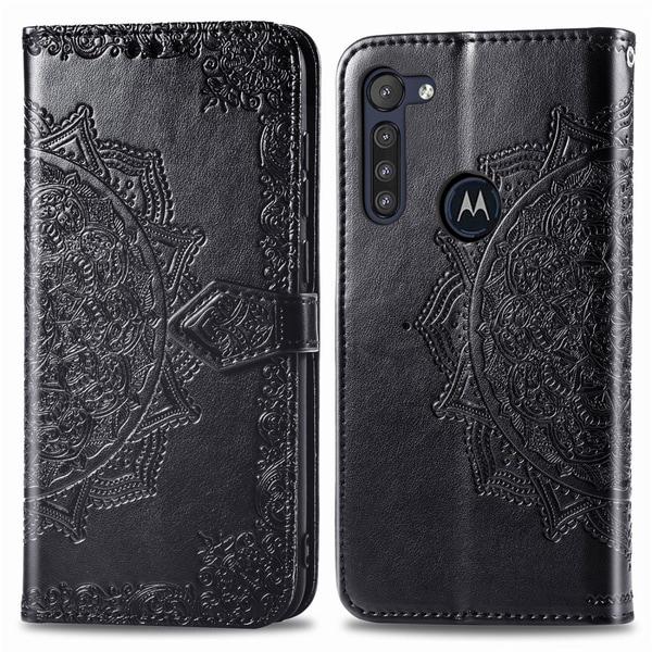 Motorola Moto G8 Power - Mandala Plånboksfodral - Svart