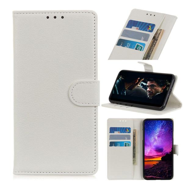 OnePlus 7 - Plånboksfodral Litchi - Vit
