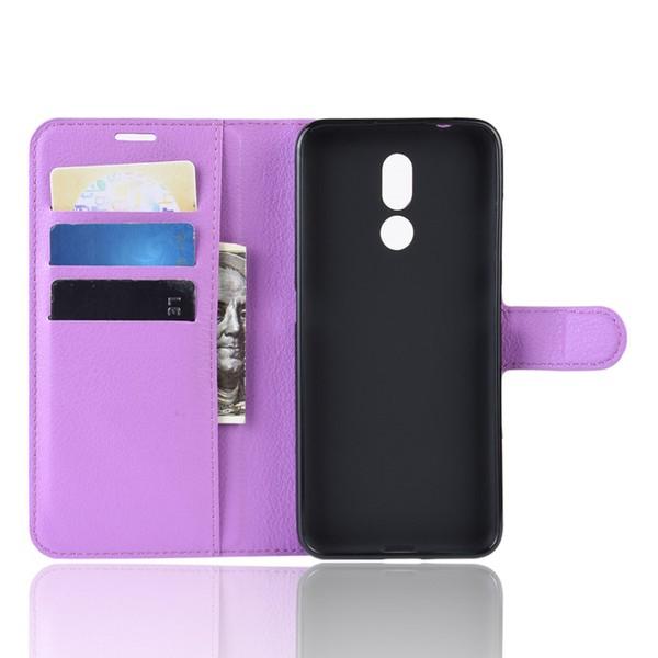 Nokia 3.2 - Litchi Plånboksfodral - Lila
