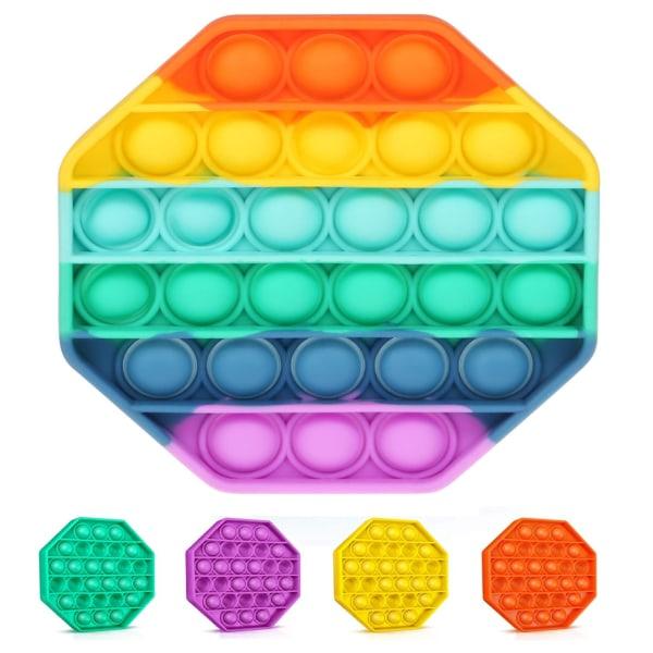 Oktogon Pop It - Fidget Toy - Välj Färg! Oktogon - Röd