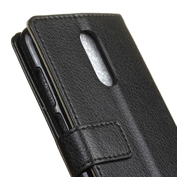 OnePlus 8 - Litchi Plånboksfodral - Svart
