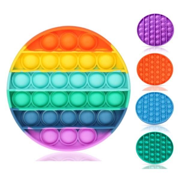 Round Pop It - Fidget Toy - Välj Färg! Rund - Blå