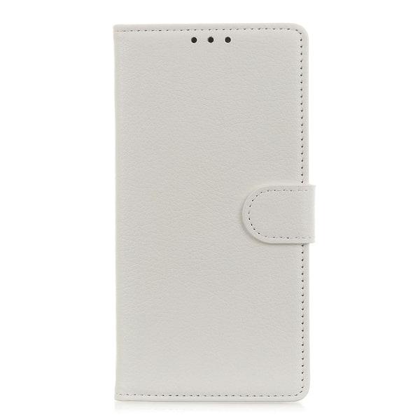 Samsung Galaxy A20s - Litchi Plånboksfodral - Vit