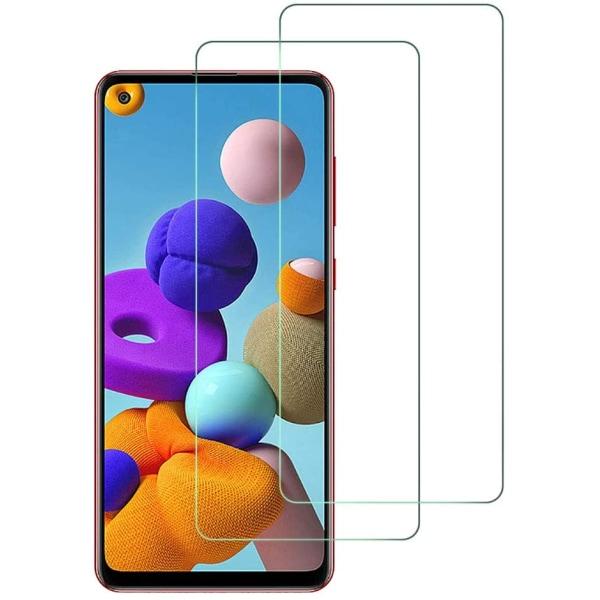 Samsung Galaxy A21s - 2-Pack - Skärmskydd i Härdat Glas