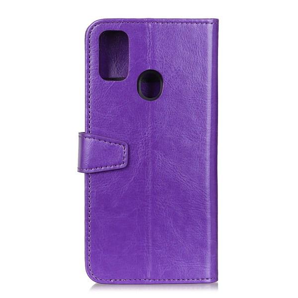 Samsung Galaxy A21s - Crazy Horse Plånboksfodral - Lila