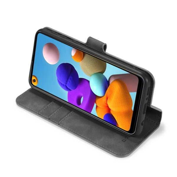 Samsung Galaxy A21s - DG.MING Retro Plånboksfodral - Grå