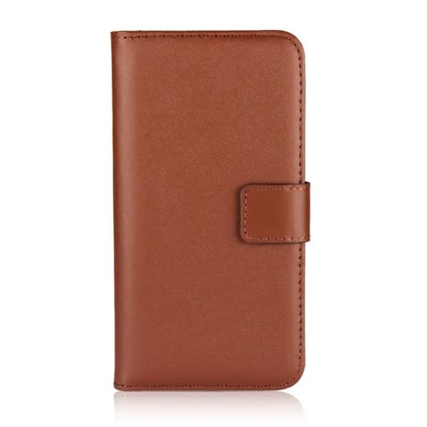 Motorola Moto G8 Power - Plånboksfodral I Äkta Läder - Välj Färg Brun