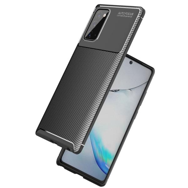 Samsung Galaxy Note 20 - Kolfiber Textur Skal - Svart