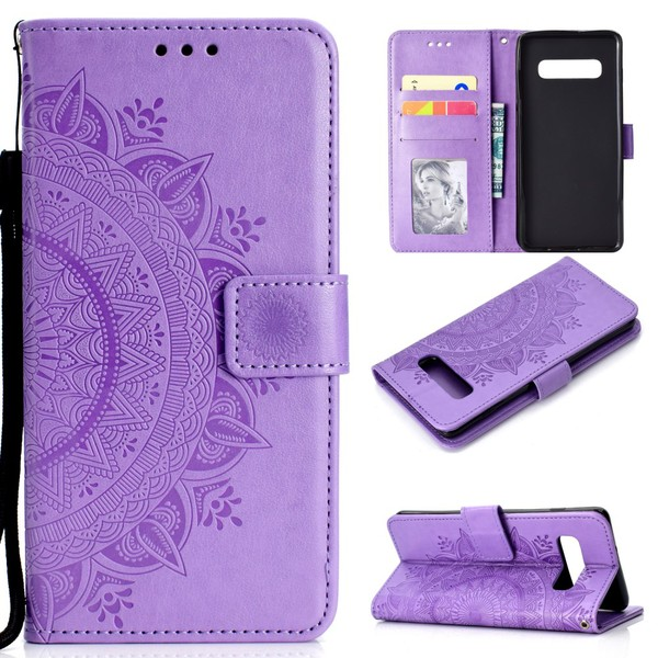 Samsung Galaxy S10 - Mandala Plånboksfodral - Lila