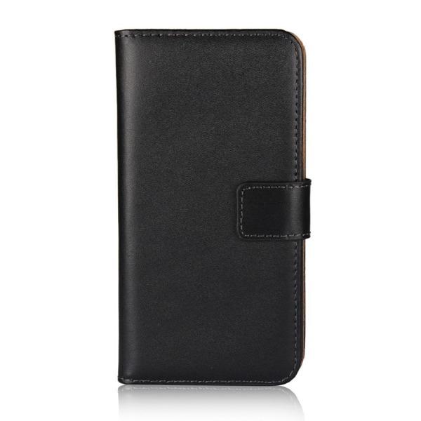 Samsung Galaxy S10 Plus - Plånboksfodral I Äkta Läder - Välj Fär Black Svart