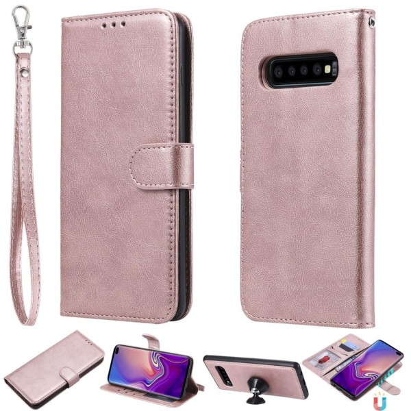 Samsung Galaxy S10 Plus - Plånboksfodral/Magnet Skal - Roséguld Roséguld