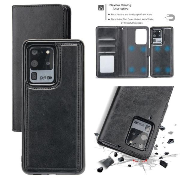 Samsung Galaxy S20 FE - Plånboksfodral / Magnet Skal 2 in 1 - Vä Black Svart