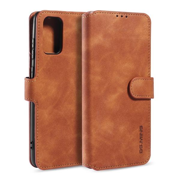 Samsung Galaxy S20 - DG.MING Retro Plånboksfodral - Brun