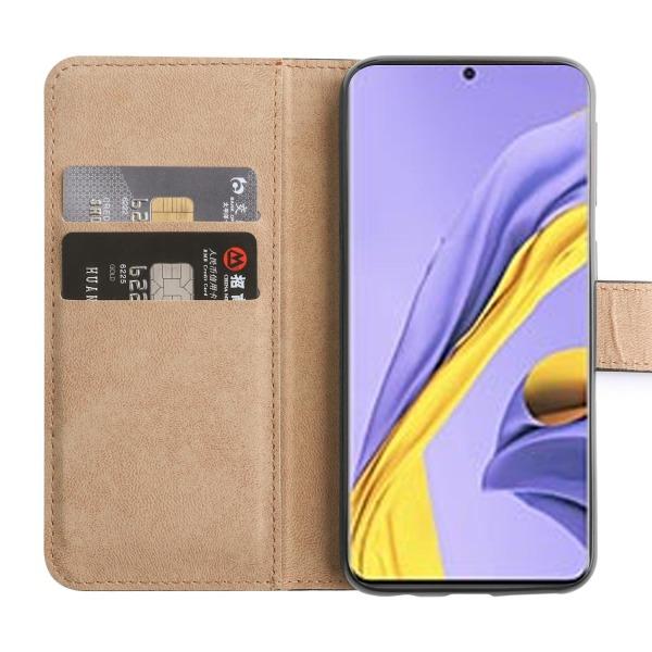 Samsung Galaxy S21 - Plånboksfodral I Äkta Läder - Välj Färg! Black Svart