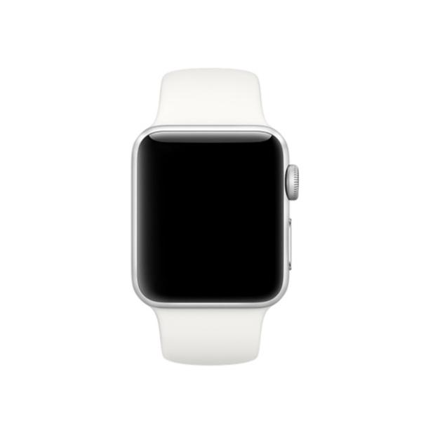 Silikon Armband Apple Watch 44/42 mm - Vit
