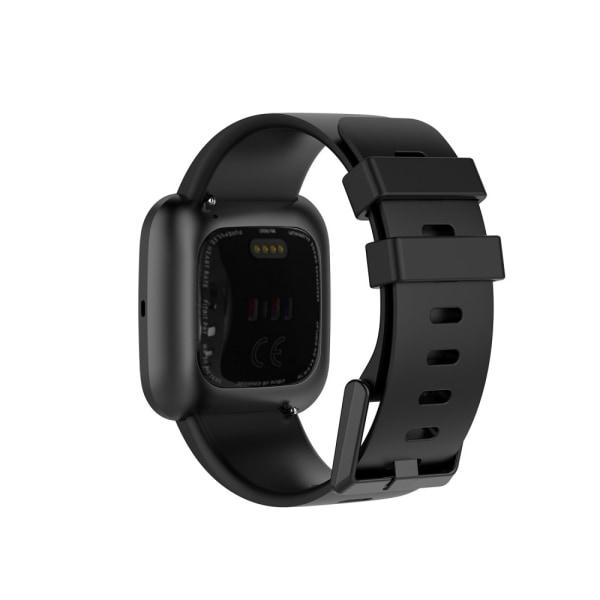 Silikon Armband Fitbit Versa 2/Versa Lite - Svart