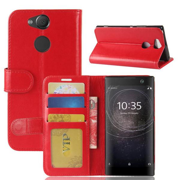 Sony Xperia XA2 - Plånboksfodral - Röd
