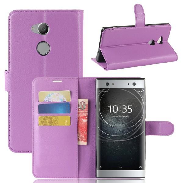 Sony Xperia XA2 Ultra - Litchi Plånboksfodral - Lila