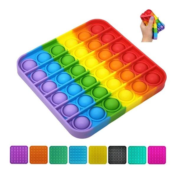 Square Pop It - Fidget Toy - Svart Fyrkant - Svart