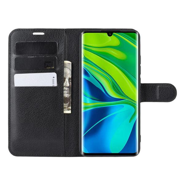 Xiaomi Mi Note 10/10 Pro - Litchi Plånboksfodral - Svart
