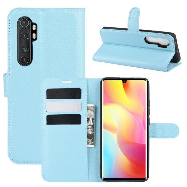 Xiaomi Mi Note 10 Lite - Litchi Plånboksfodral - Ljus Blå