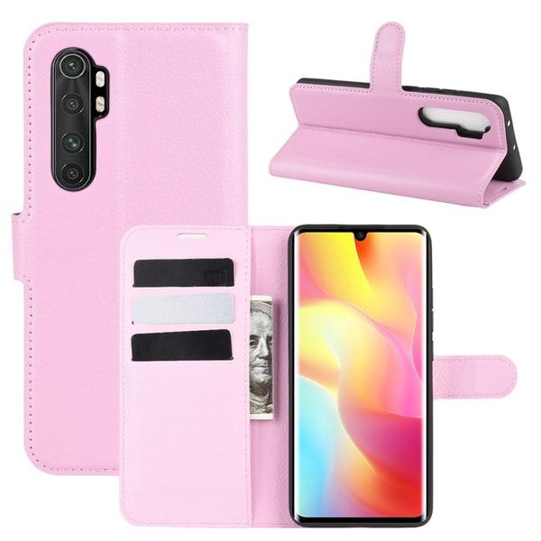 Xiaomi Mi Note 10 Lite - Litchi Plånboksfodral - Ljus Rosa