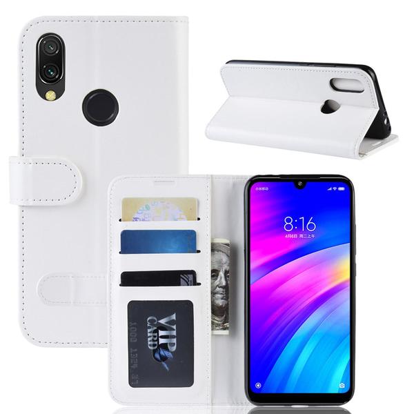 Xiaomi Redmi 7 - Plånboksfodral - Vit