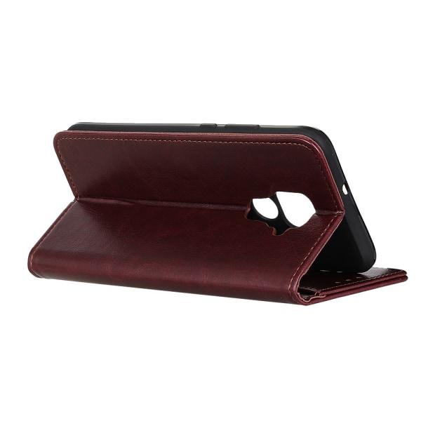 Xiaomi Redmi Note 9 - Crazy Horse Plånboksfodral - Brun