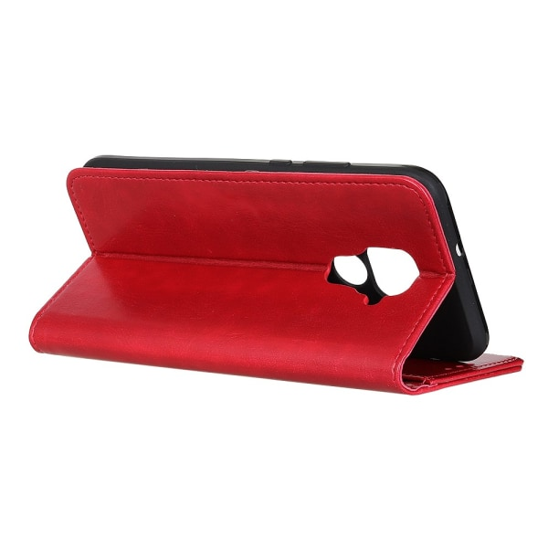 Xiaomi Redmi Note 9 - Crazy Horse Plånboksfodral - Röd