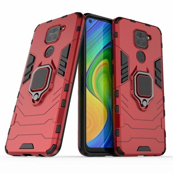 Xiaomi Redmi Note 9 - Hybrid Ring Skal - Röd Red Röd