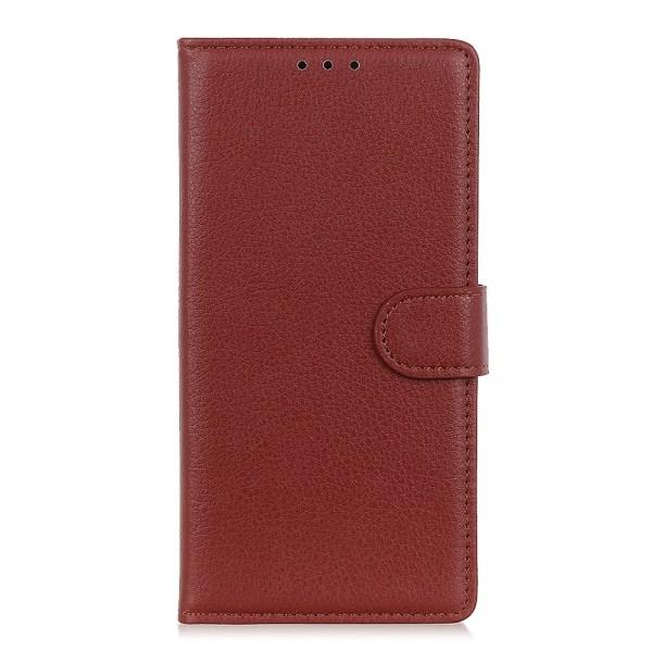 Xiaomi Redmi Note 9 - Litchi Plånboksfodral - Brun