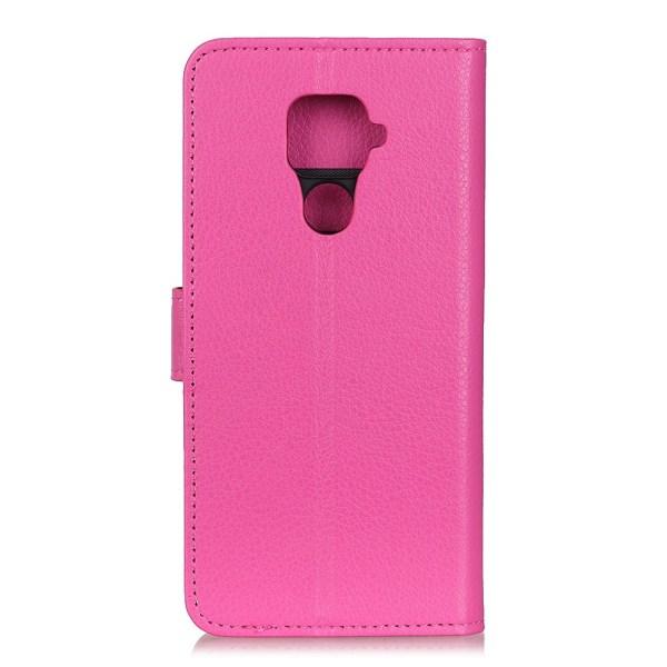 Xiaomi Redmi Note 9 - Litchi Plånboksfodral - Rosa