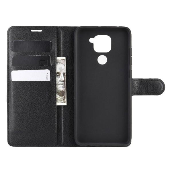 Xiaomi Redmi Note 9 - Litchi Plånboksfodral - Svart
