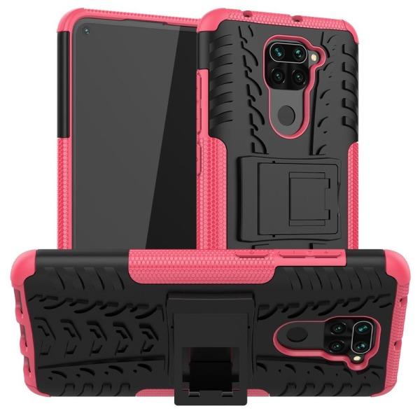 Xiaomi Redmi Note 9 - Ultimata Stöttåliga Skalet med Stöd - Rosa Pink Rosa