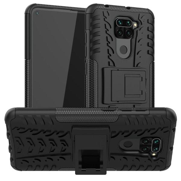 Xiaomi Redmi Note 9 - Ultimata Stöttåliga Skalet med Stöd - Svar Black Svart