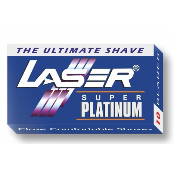 100-pack Laser Super Platinum Rakblad Dubbelrakblad