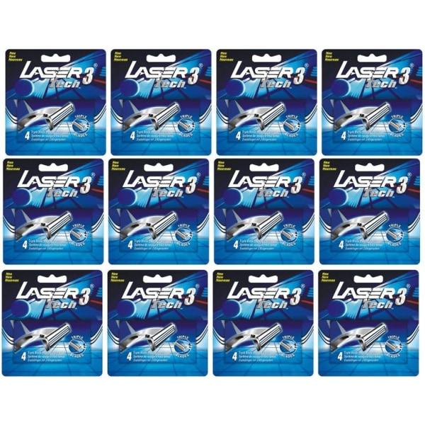 Laser Tech3 Rakblad 48st, kompatibla med Gillette Sensor3